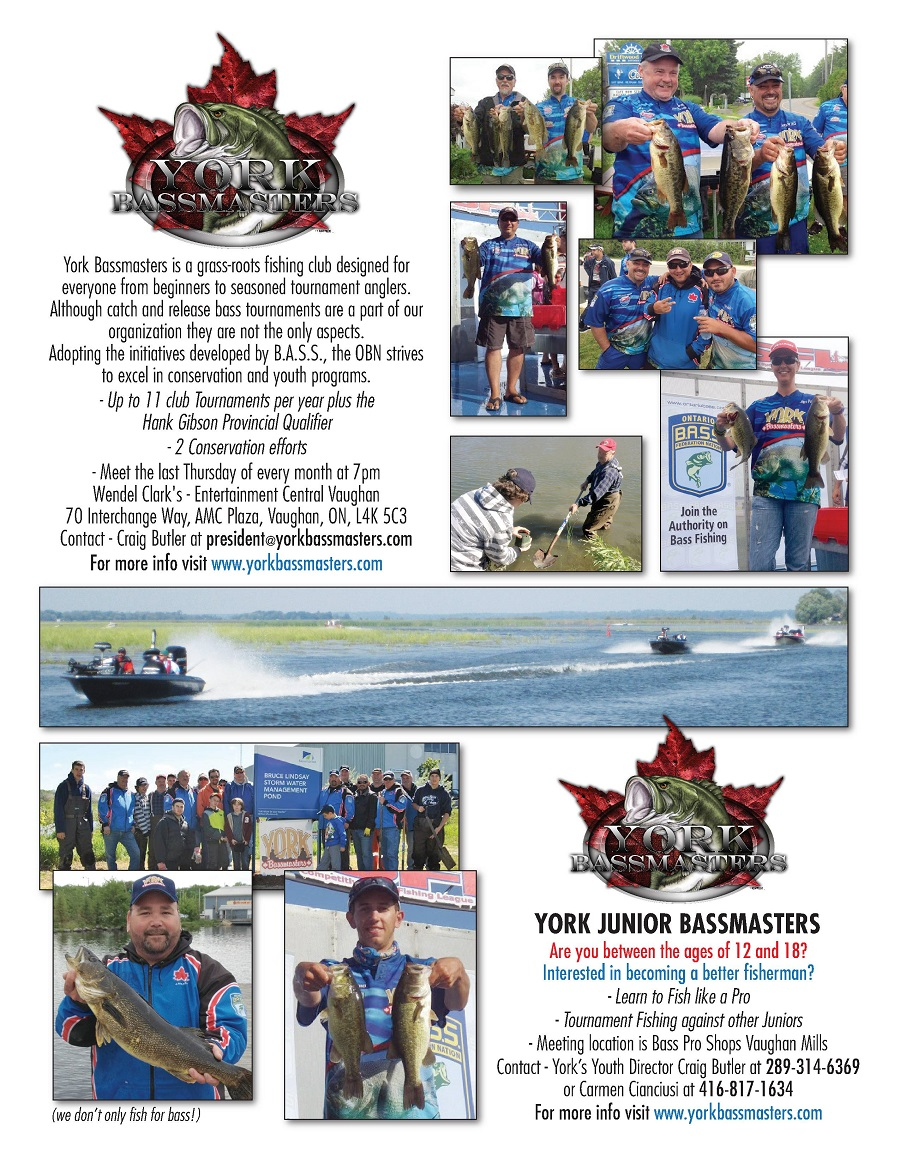 Becoming a member of the York Bassmasters